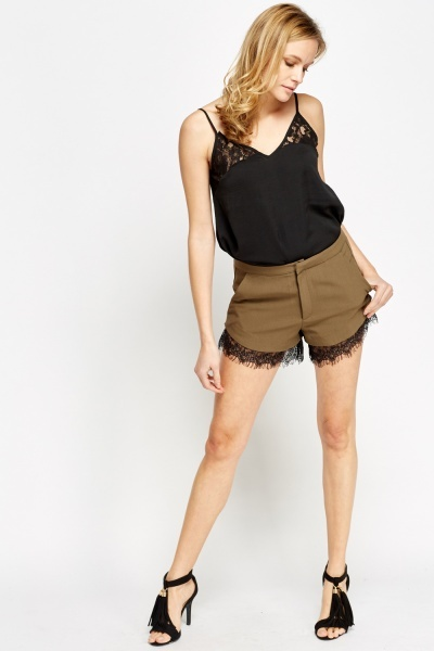 Lace Trim Mini Short