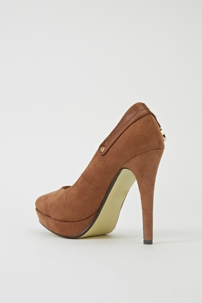 Buckle Detailed Side Heels