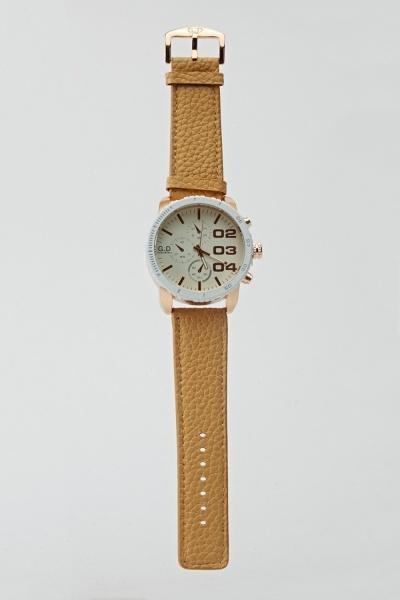 Men's Mock Crock Chronograph Watch
