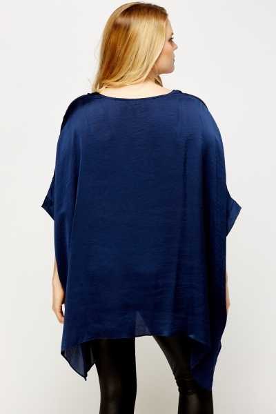 Navy Box Top