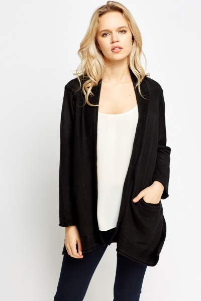Cropped Back Pinned Cardigan