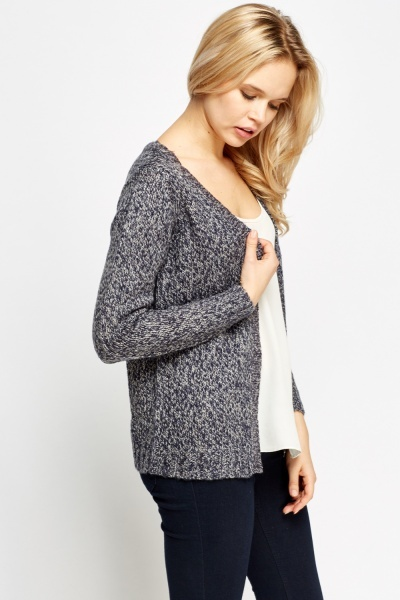 Speckled Knitted Cardigan