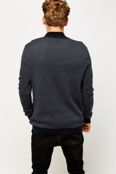 Contrast Trim V-Neck Jumper