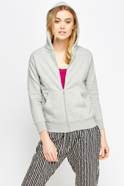 Zipped Up Grey Hoodie