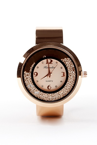 Shell Dial Stone Inside Bangle Watch