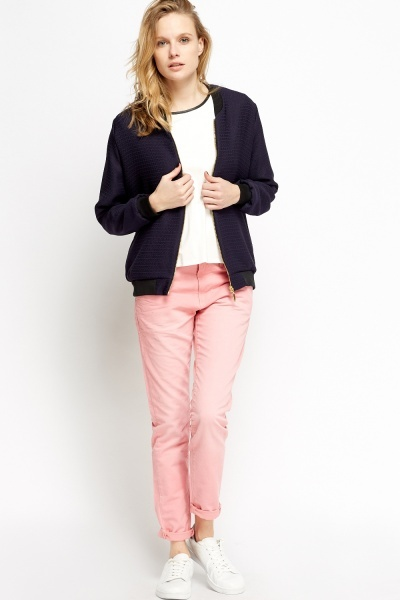 Pink Slim Leg Jeans