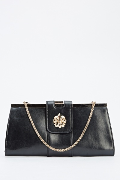 Detailed Clutch Shoulder Bag