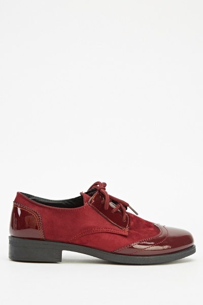 Contrast Lace Up Brogues