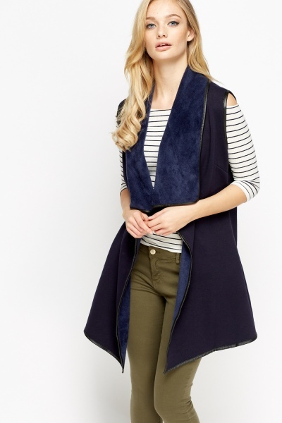 Waterfall Contrast Trim Gilet