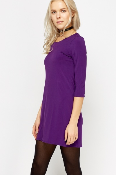 Purple Mini Basic Dress
