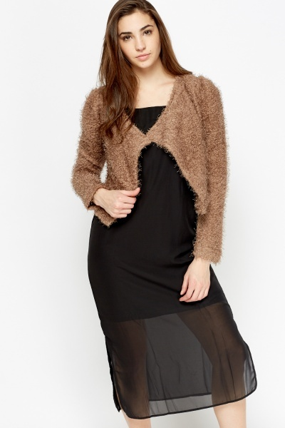 Eyelash Cropped Cardigan
