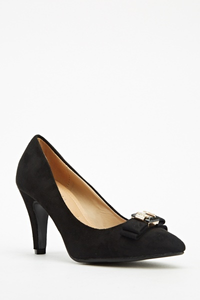 Bow Front Detail Court Shoes