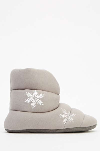 Snow Flake Slipper Boots
