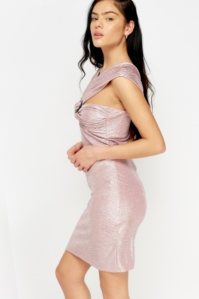 Metallic Detailed Bodycon Dress