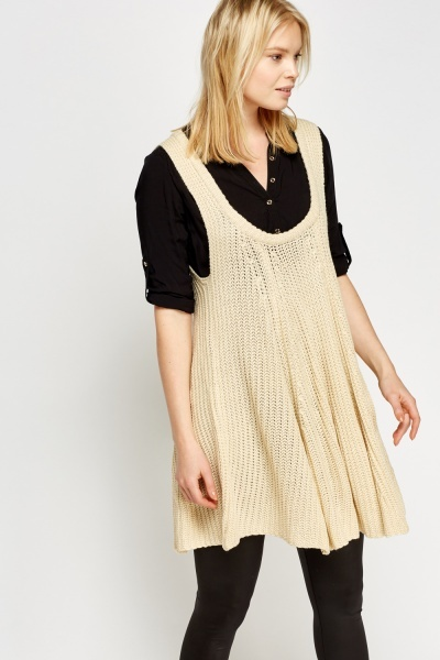 Sleeveless Knitted A-Line Tunic