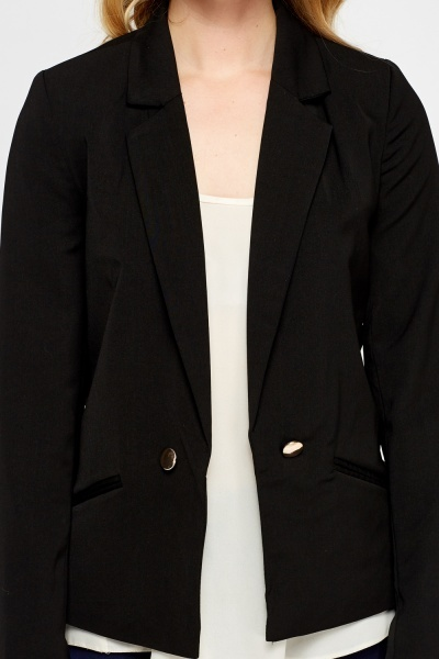 Casual Cropped Lapel Blazer