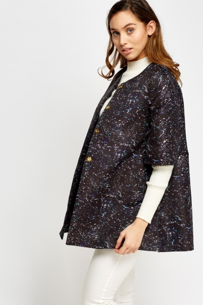 Printed Black Box Jacket
