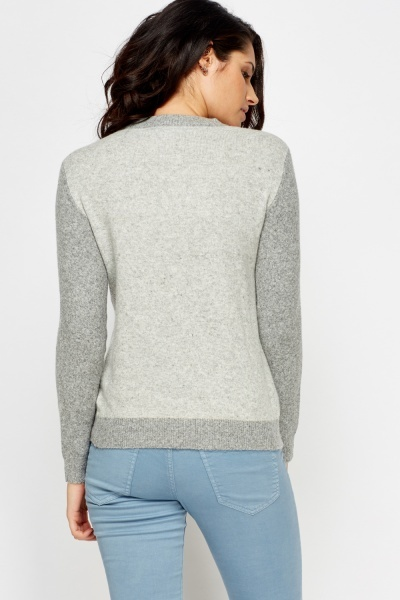 Colour Block Knit Jumper