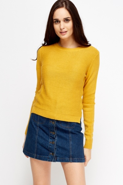 Knitted Basic Pullover