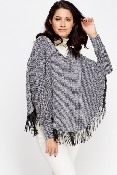 Speckled Box Poncho Jumper