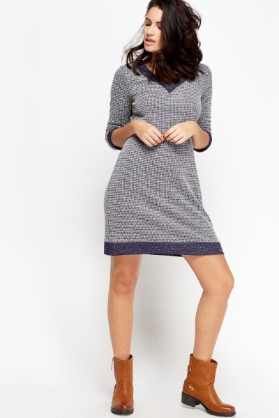 Textured Speckled Shift Dress
