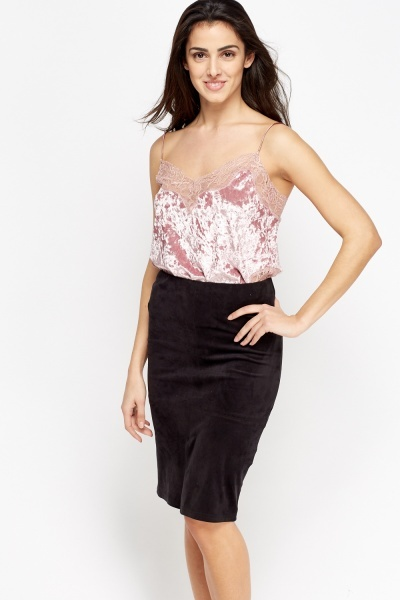 9c3f940126ee Velveteen Lace Trim Cami - Just £5