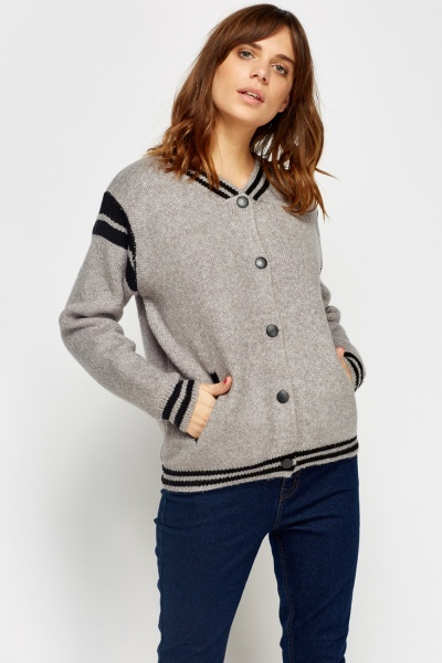 Contrast Speckled Button Up Jacket