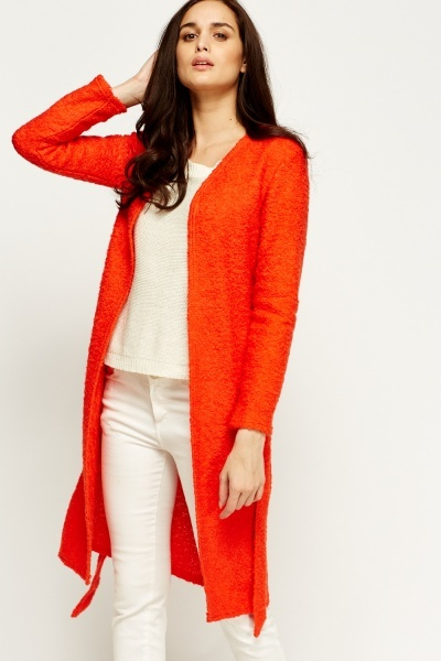 Bobble Knit Longline Cardigan