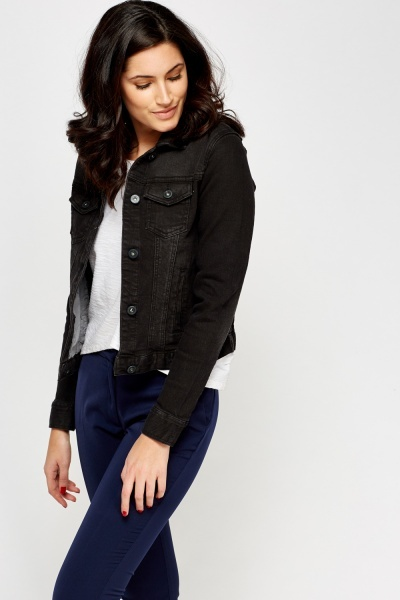 Charcoal Denim Jacket