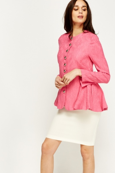 Jacquard Button Up Jacket