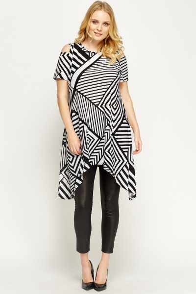 Mono Printed Asymmetric Top