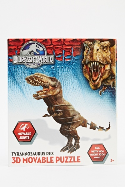 3D Moveable Puzzle Tyrannosaurus Rex