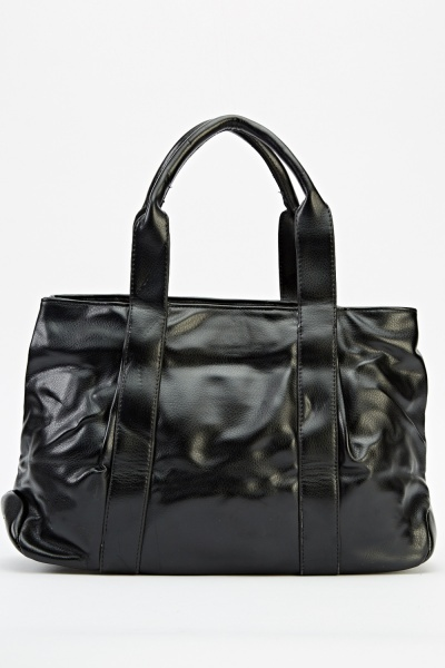 Faux Leather Large Tote Bag