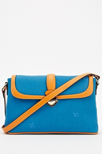 Middle Blue Cross Body Bag