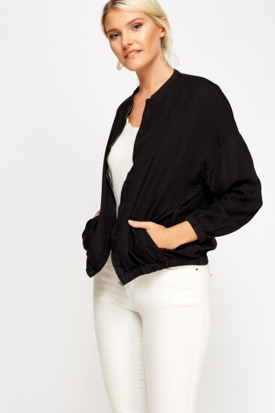 Light Zip Up Bomber Jacket