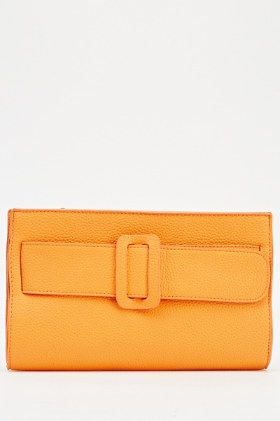 Image of Faux Leather Clutch Bag