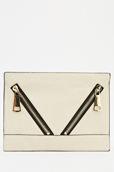 Image of Zipped Pockets Front Clutch Bag