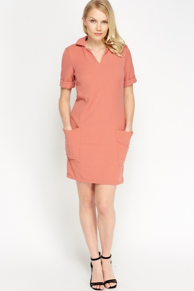 Image of Pocket Side T-Shirt Dress