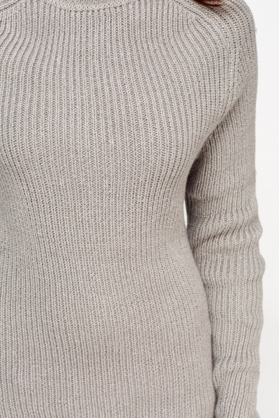Knitting Pattern Roll Neck Jumper : Grey Knitted Roll Neck Jumper - Just ?5
