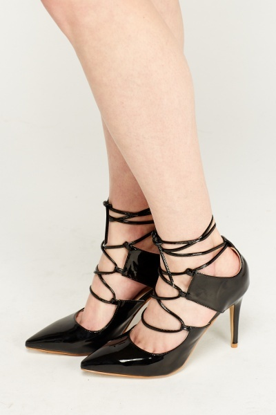 PVC Tie Up Court Heels