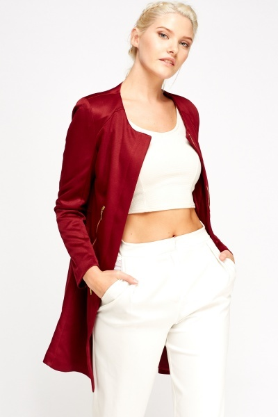 Long Lined Zipped Jacket