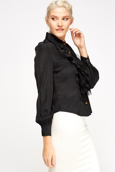 Ruffled Front Formal Shirt