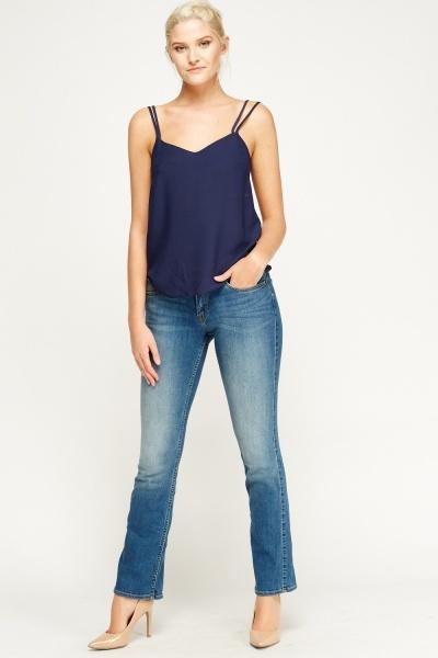 Flared Leg Denim Jeans