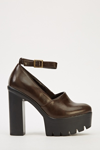 Ankle Strap Platform Shoes