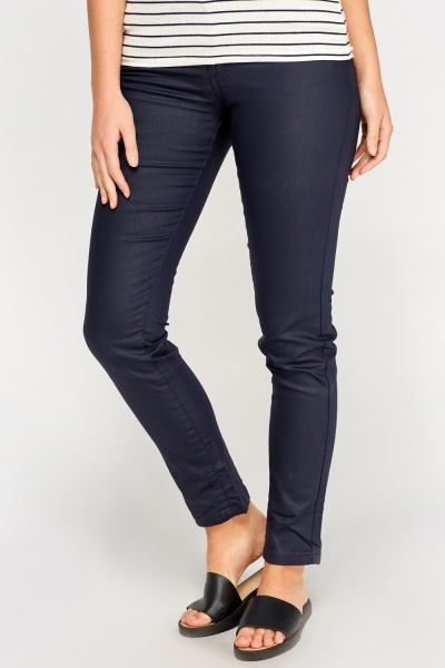 Waxed Straight Leg Jeans