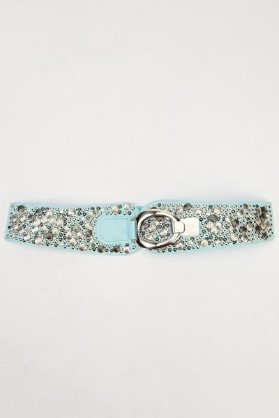 Image of Embellished Wide Elasticated Belt