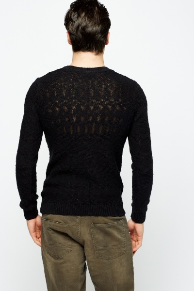Loose Knit Mens Jumper