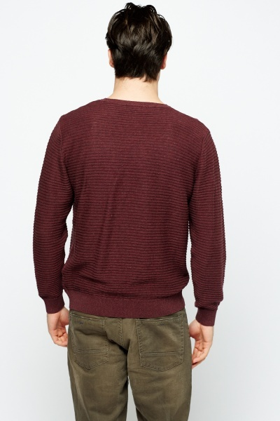 Ribbed Mens Casual Jumper