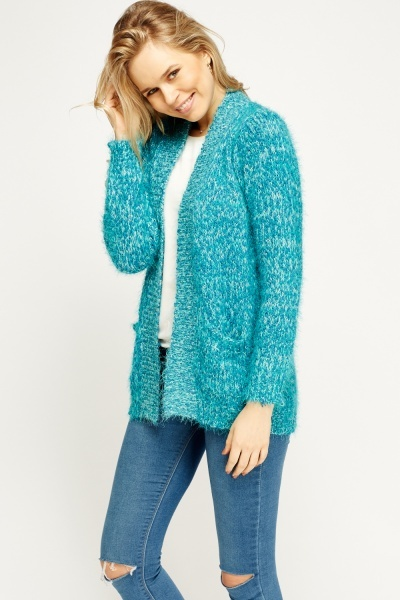 Eyelash Speckled Knit Cardigan