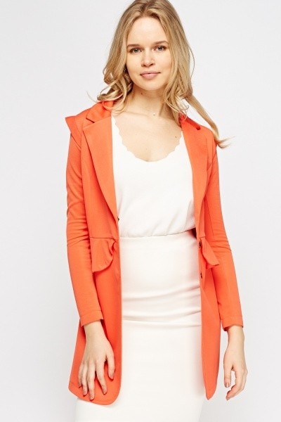 Peplum Textured Jacket